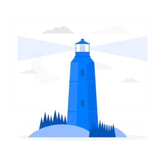 Lighthouse concept illustration