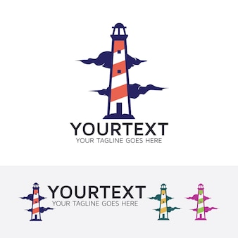Lighthouse consulting vector logo template