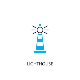 Lighthouse icon. logo element illustration. lighthouse symbol design from 2 colored collection. simple lighthouse concept. can be used in web and mobile.