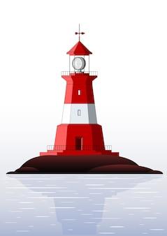 灯台-白で隔離