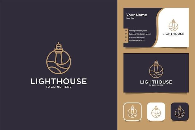 Дизайн логотипа и визитной карточки lighthouse