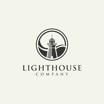 Lighthouse logo on beige