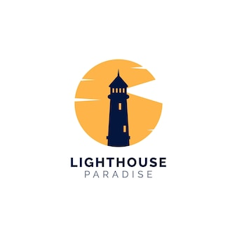 Концепция дизайна логотипа маяка