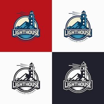 Lighthouse logo design template illustration