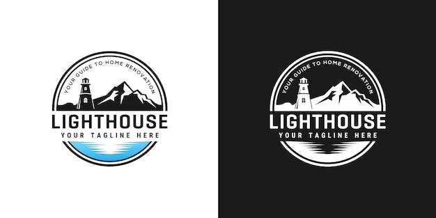 Lighthouse logo design template