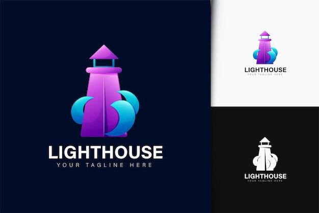 Дизайн логотипа маяка с градиентом