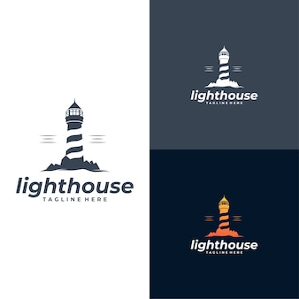 Lighthouse logo template set