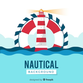 Lighthouse nautical background