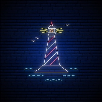 Lighthouse neon sign.