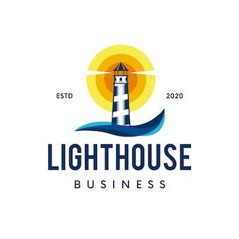 灯台の舵のロゴ