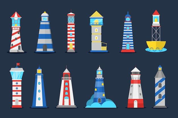 Маяк установлен. сборник маяка для судоходства