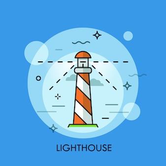 Lighthouse thin line illustration