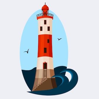 Lighthouse tower against the sky