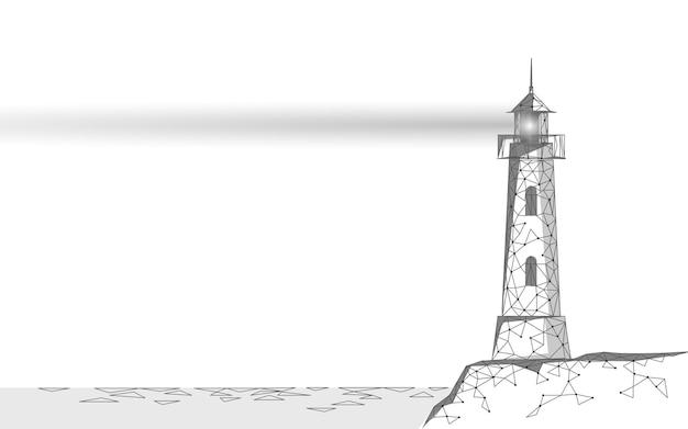 灯台タワーはライトランプとレンズを放射します
