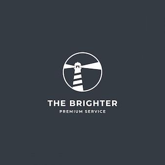 Lighthouse tower island logo