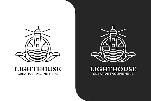 Lighthouse tower logo template