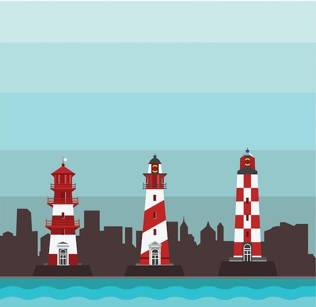 Lighthouse vector design