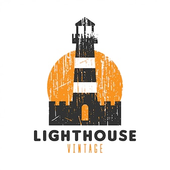 Lighthouse vintage logo