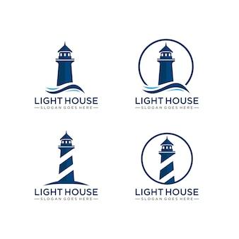 Шаблон логотипа lighthouse