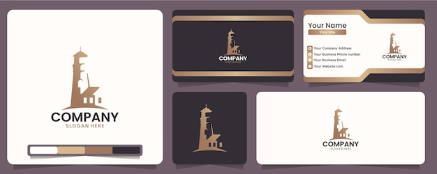 Lighthouses, markers, icons, for companies in the marine sector, logo design inspiration
