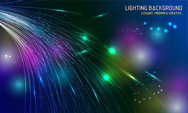 Lighting dynamic colorful background
