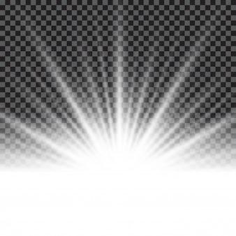 Lighting effect sunburst or sunbeams