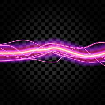 Lighting electric thunder storm glow sparkle vector