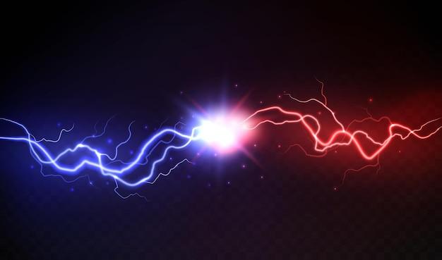 Иллюстрация столкновения молнии