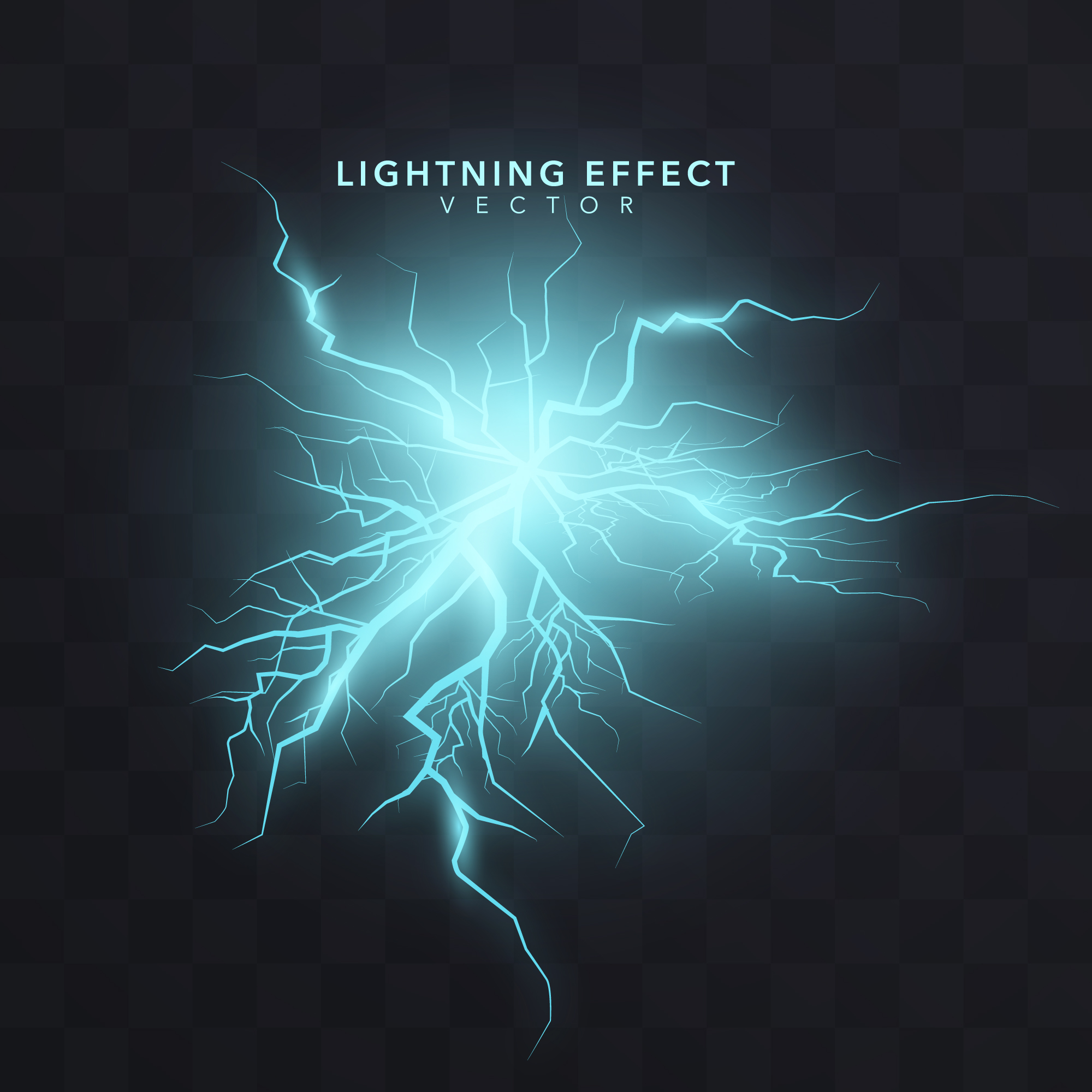 Lightning effect background