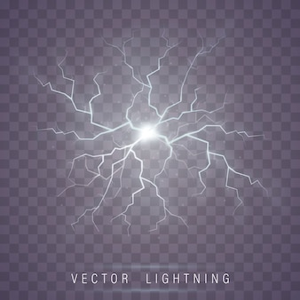 Lightning flash bolt. lightning magic and light effects.