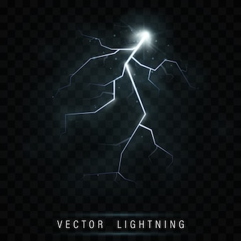 Lightning flash bolt. neon color energy.