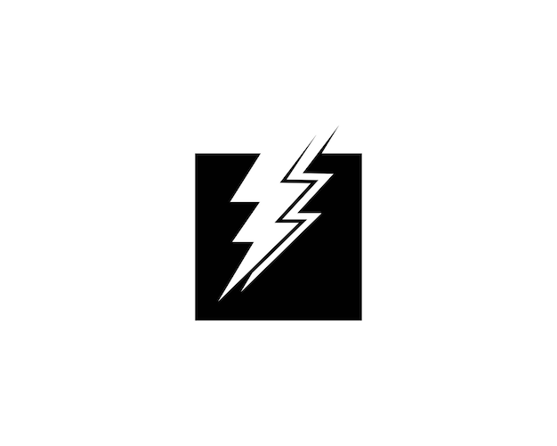 Lightning icon vector template