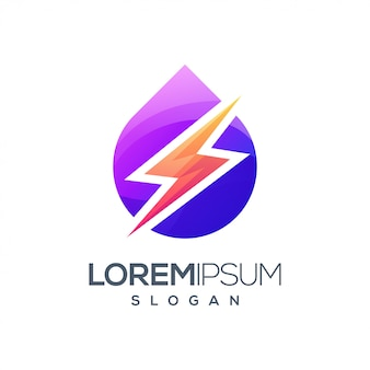 Lightning inspiration gradient color logo