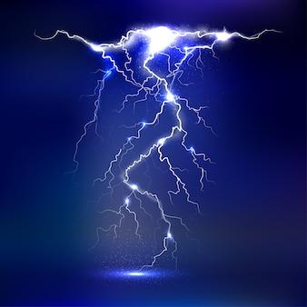 Lightning - isolated. luminous light effects