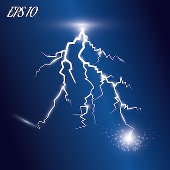 Lightning and lighting effect  a symbol of natural strength or magic
