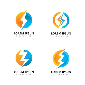 Lightning logo icon vector design