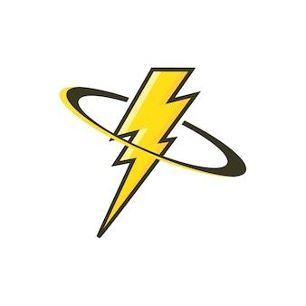 Lightning logo icon vector