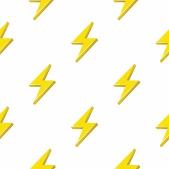 雷またはサンダーボルトのシームレスパターン