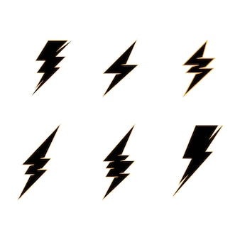 Lightning thunderbolt electricity logo template