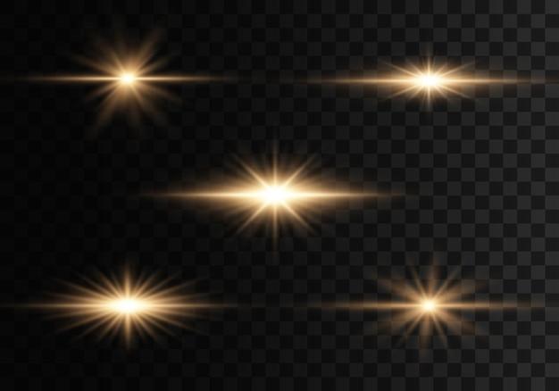 Огни и блестки на прозрачном фоне
