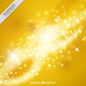 Lights background in yellow color