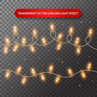 Lights bulbs isolated on transparent background