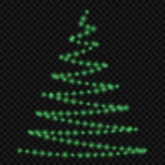 Lights on christmas tree
