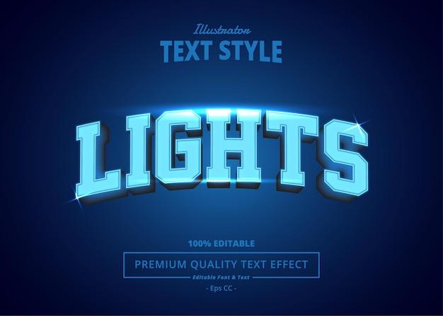 Lights editable text effect