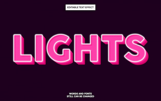 Lights editable text effect