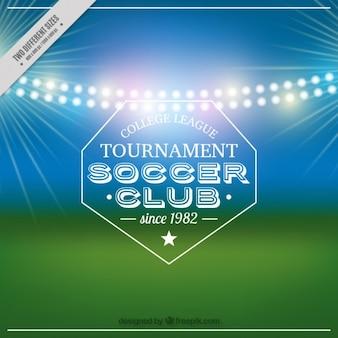 Lights garlands blurred soccer background Free Vector