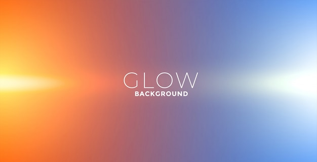 Lights glow effect background in orange and blue colors