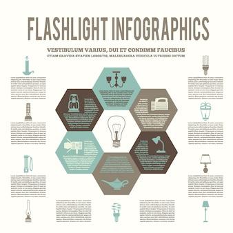 조명 infographic 템플릿