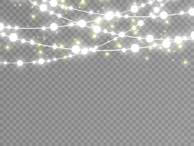 Lights isolated on transparent background.