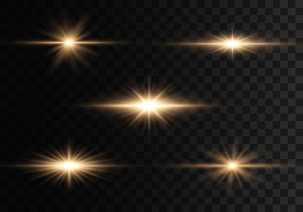 Lights and sparkles on a transparent background